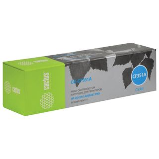 Toner cartridge CACTUS (CS-CF351A) for HP CLJ M176n / M177fw, cyan, yield 1000 pages.