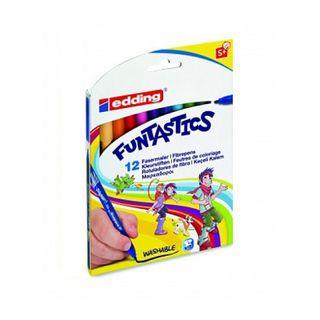 Edding / Funtastics Color Marker Pen Set for Drawing, 1mm, 12 Colors, 12 Colors Carton