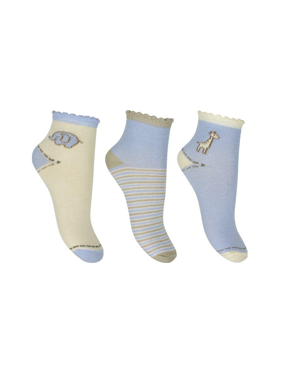A set of socks for kids: elephant, zhirafik, strip