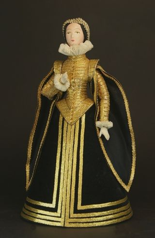 Doll gift porcelain. Spain. Madrid. Women's court dress. The late 16th - early 17th century.
