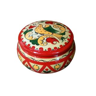 "The box is wooden ""Boretskaya painting"" 10 cm"