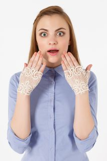 Lace mitts,