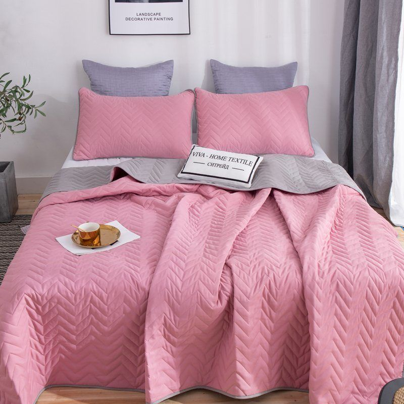 Citrade / Set one-color double-sided bedspread and two pillowcases 50-70, ODP008
