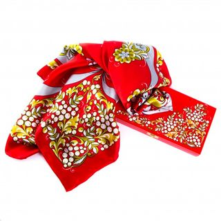 "Silk scarf in gift box ""Santa Claus"""