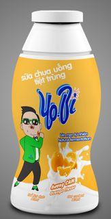 Drinking yoghurt with orange flavor
