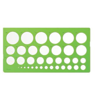 Stencil STAMM circles, 36 items with a diameter from 1 to 36 mm, green