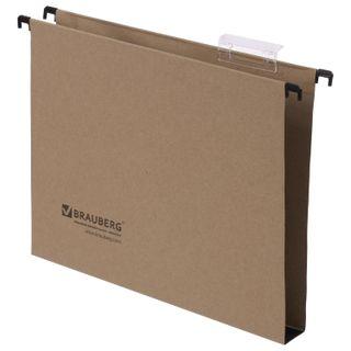 Hanging folder A4 (350х245 mm), 300 sheets, SET of 10 PCs., cardboard, BRAUBERG (Italy)