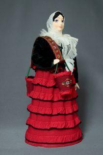 Doll gift porcelain. The water-bearer-Cossack.