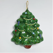 Christmas tree with decorations (flat) - Christmas tree toy
