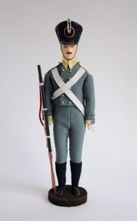 Doll gift. A non-commissioned officer. The military uniform. Russia. 19th century