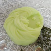The month - Santa Claus-light-green - home gift soap