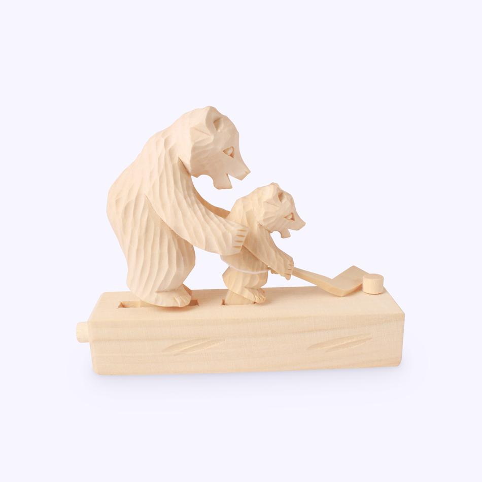 "Bogorodskaya toy / Wooden souvenir ""First ice"""