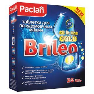 Dishwashing tablets in dishwashers 25 pieces, PACLAN Brileo