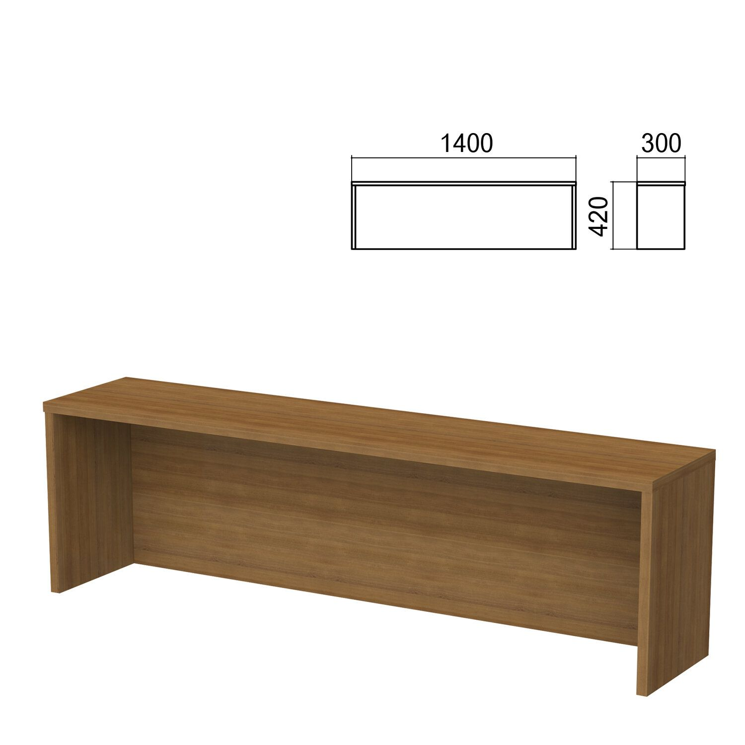 Argo table add-on, 1400 mm wide, walnut