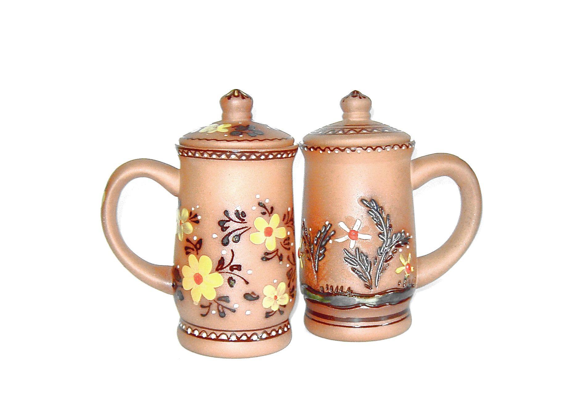 """Tarusa artist / Mug with lid """"Grass"""", 0.7L"""