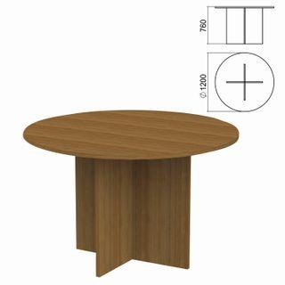 Argo Circle Negotiating Table, 1200 x1200s760 mm, walnut