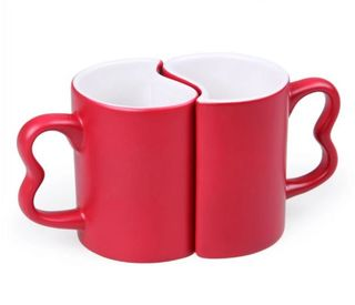 "Set of cups for lovers ""Two Halves"""