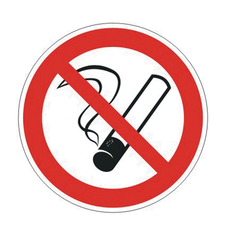 "Prohibiting sign ""No smoking"", circle, diameter 200 mm, self-adhesive"