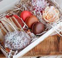 Handmade soap set Flowers-Macarons-Almonds