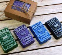 Handmade soap Papa - mix of colors