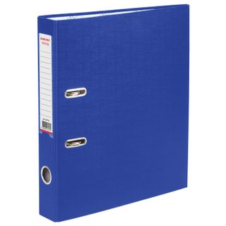 Folder-Registrar with FISMA arch mechanism, PVC coating, 50 mm, blue
