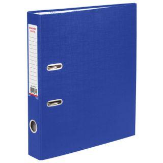 Folder-Registrar with FISMA arch mechanism, PVC coating, 50 mm, blue