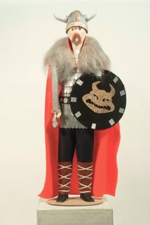 Doll gift. Viking with a sword. Northern Europe. 8-11 centuries the Normans.