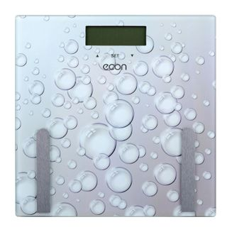 Scales diagnostic ECON ECO-BS011, electronic, weight up to 180 kg, square, glass, white