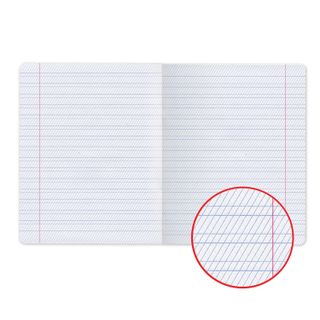 Notebook GREEN cover 12 sheets, HATBER, offset, frequent oblique line with fields