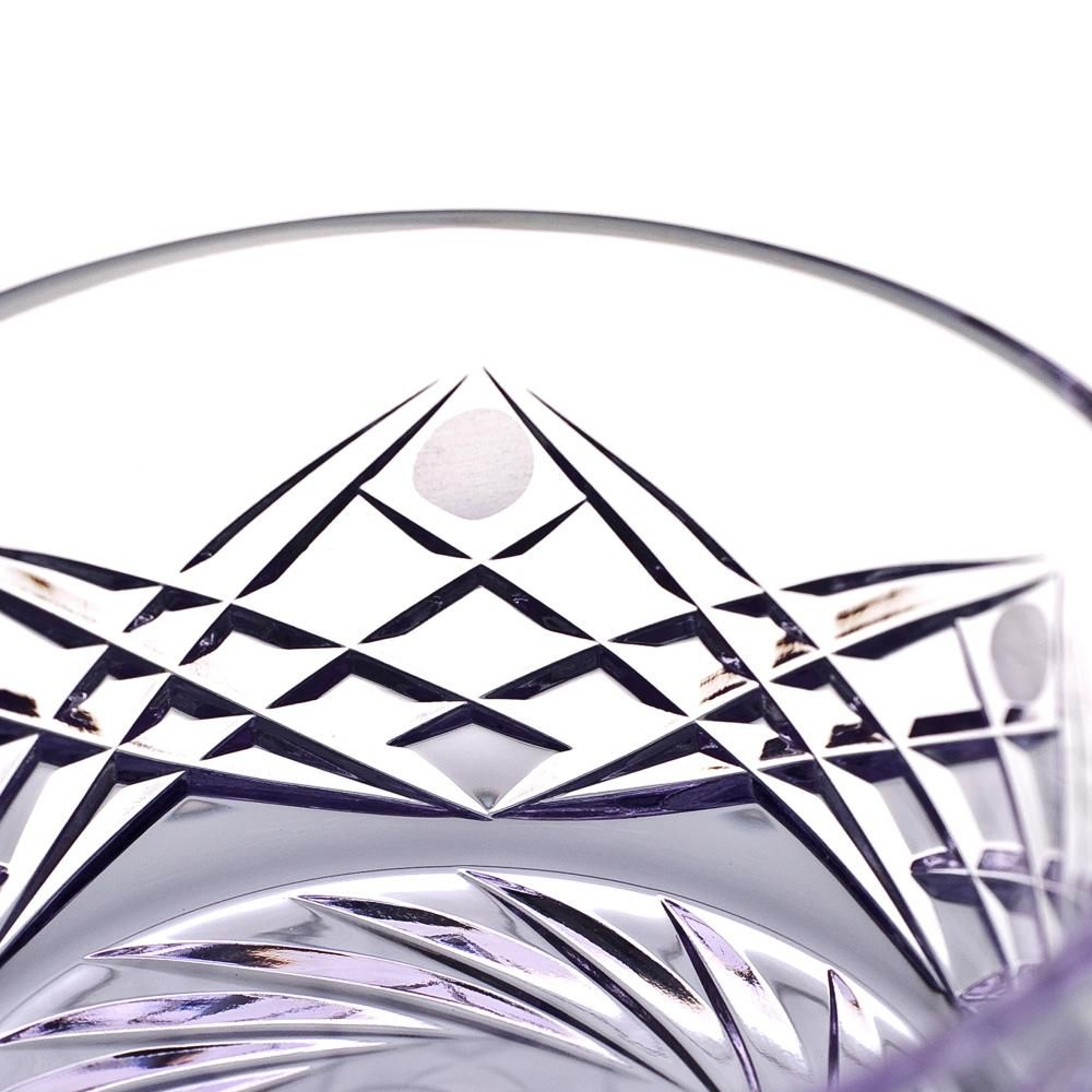 """Crystal vase for sweets """"Shvedka"""" light purple"""