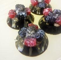 Truffle with berries - handmade chocolate Milotto based on natural chocolate