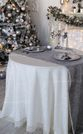 Tablecloth with lace Versailles with grey carpet - view 1