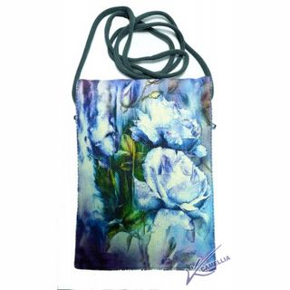 Textile bag for documents with print