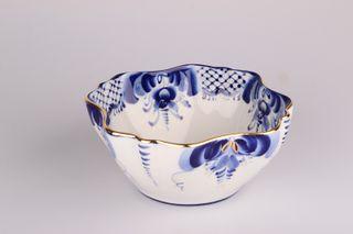 Dulevo porcelain / Salad bowl squareVizit Gold