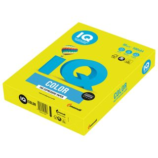 IQ COLOR / A4 paper, 80 g / m2, 500 sheets, neon, yellow