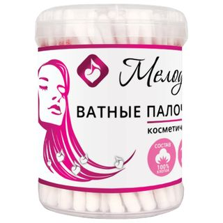 MELODY / Cotton swabs SET 100 pcs., Plastic cup