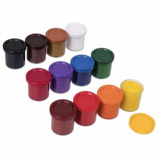 Gouache school FISMA, 12 colors, no brush, carton box