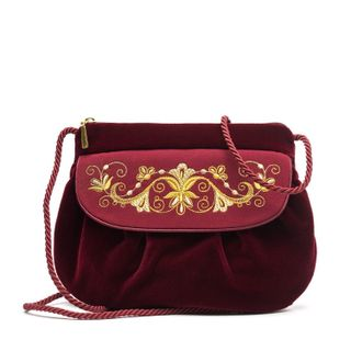 "Velvet bag ""Bindweed"" burgundy"