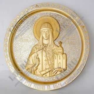 Panel Image of the Holy Princess Equal to the Apostles