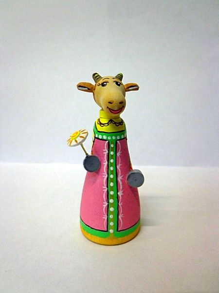 """Tver souvenirs / Tver theme """"Goat with chamomile"""""""