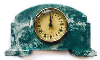 Arbet Marble / Mantel table clock Classic from marble Arbet ™ Malachite (green)