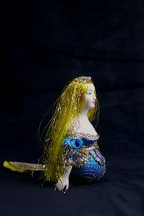 Doll gift porcelain. The little mermaid. Folklore character.