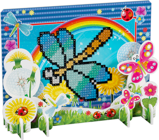 3D puzzle with diamond mosaic: Dragonfly