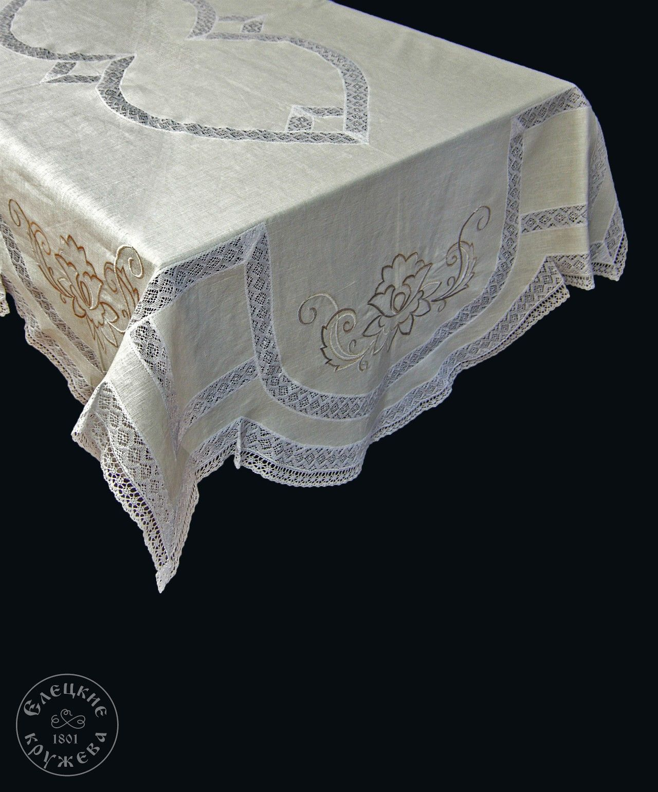 """Yelets lace / Table set """"Tablecloth and napkins"""" С921"""