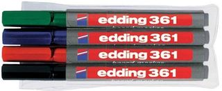 Edding / Whiteboard marker set, round tip, 1 mm, 4 pieces 4 colors