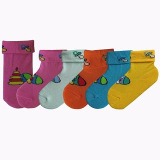 Children's socks with a funny drawing