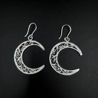 """Kazakov Filigree / Earrings """"Moon"""""""