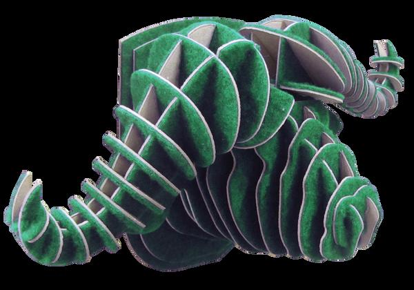 3D figure - Head of the African buffalo KV Green