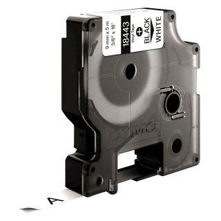 DYMO Rhino label printer cartridge, 9 mm x 5.5 m, vinyl tape, black font, white