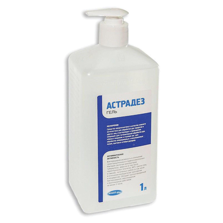 ASTRADEZ / Skin disinfectant antiseptic, alcohol-containing 60%, GEL, 1 l, dispenser